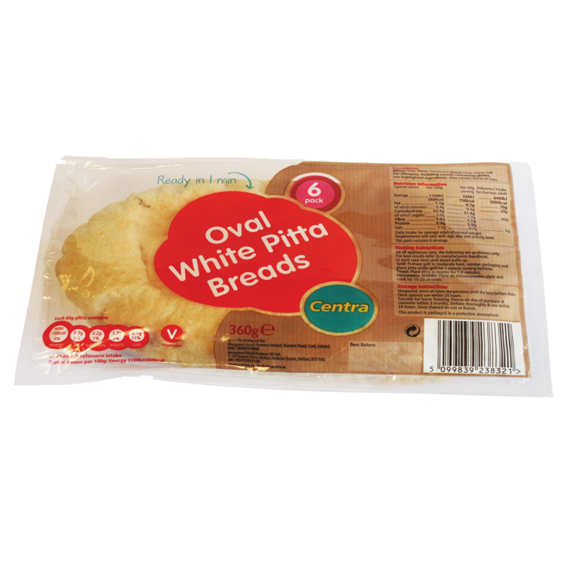 CT OB Oval White PITTA Breads