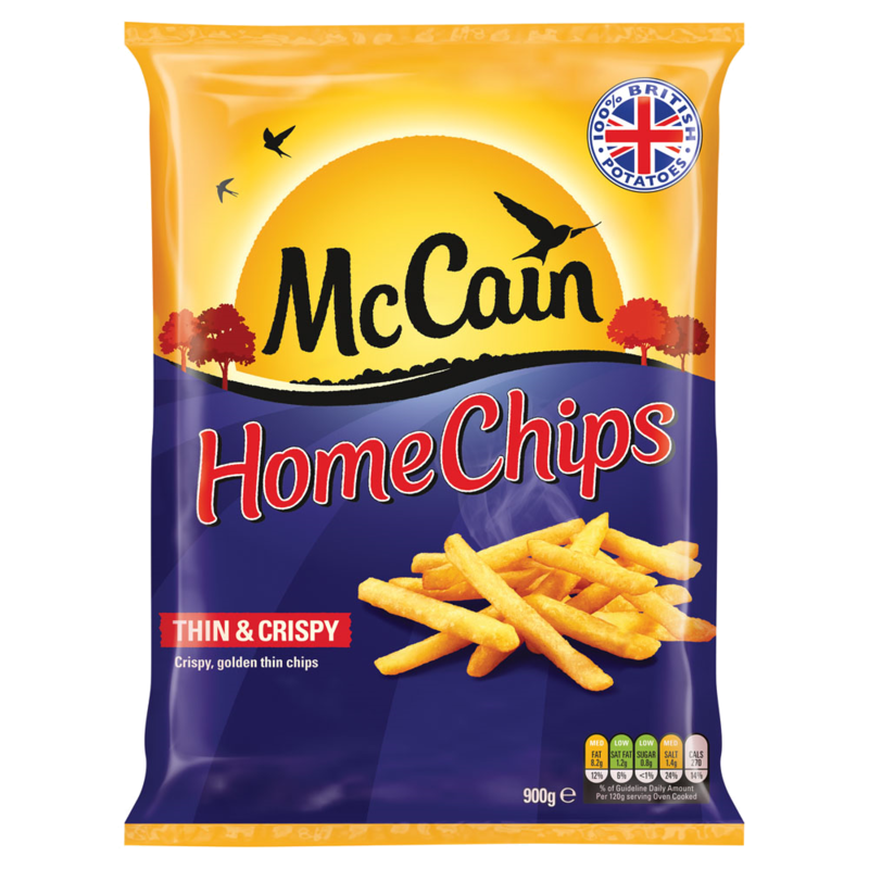 McCain Thin   Crispy Home Chips 900g