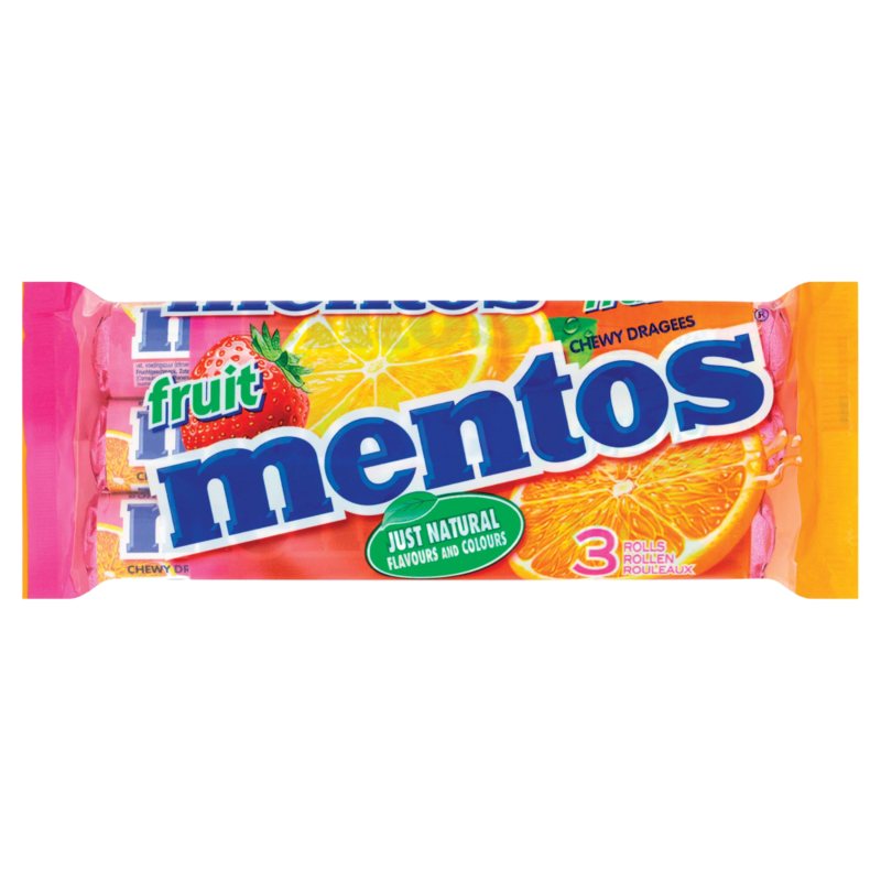 Mentos Fruit Chewy Dragees 3 x 38g