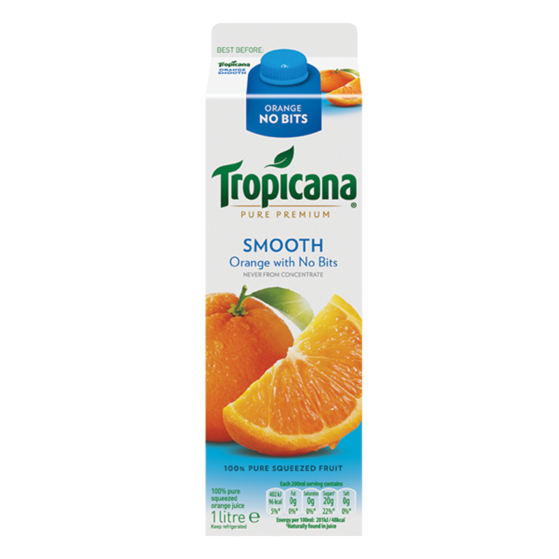 Tropicana Pure Premium Smooth Orange WithNoBits 1L