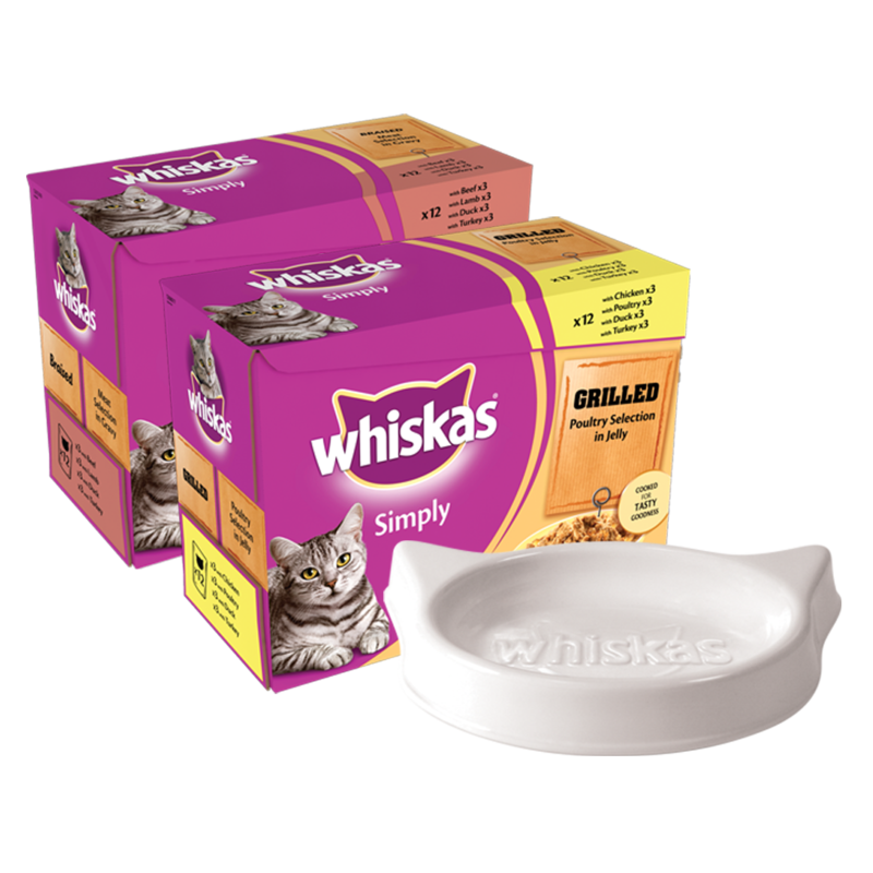 Whiskas Range   Ceramic Bowl