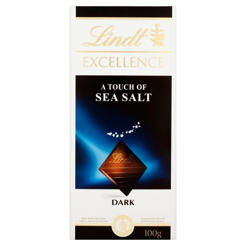 Lindt Excellence Dark a Touch of Sea Salt 100g