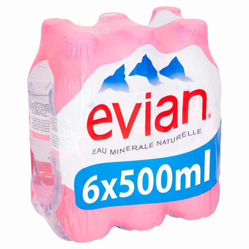 evian Still Natural Mineral Water 6 x 500ml