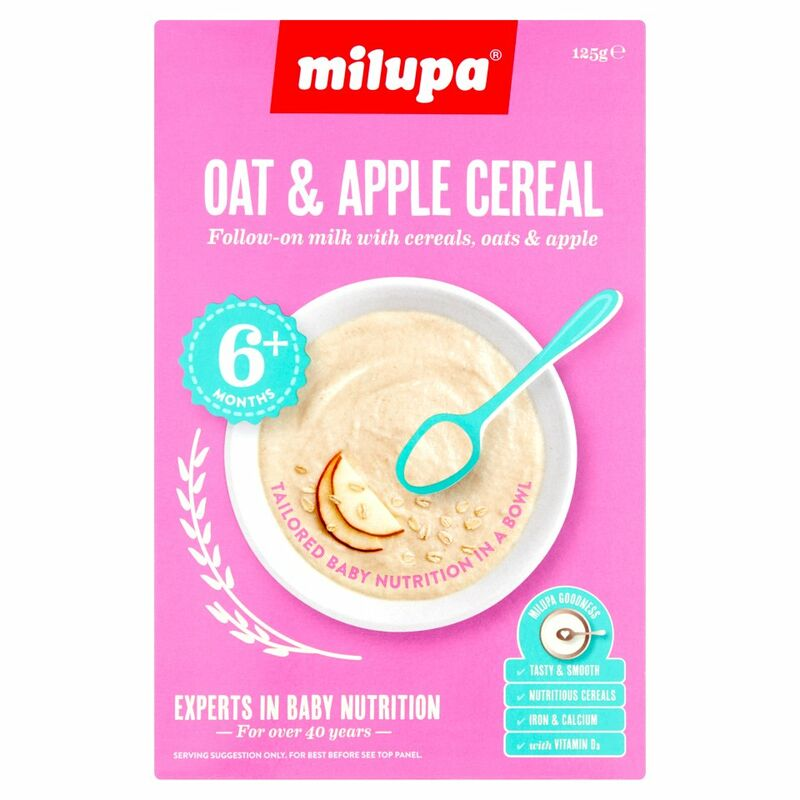 Milupa Oat & Apple Cereal 6+ Months 125g