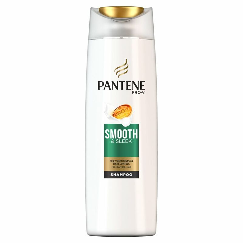 Pantene Pro-V Smooth & Sleek Shampoo For Frizzy, Dull Hair 400ML