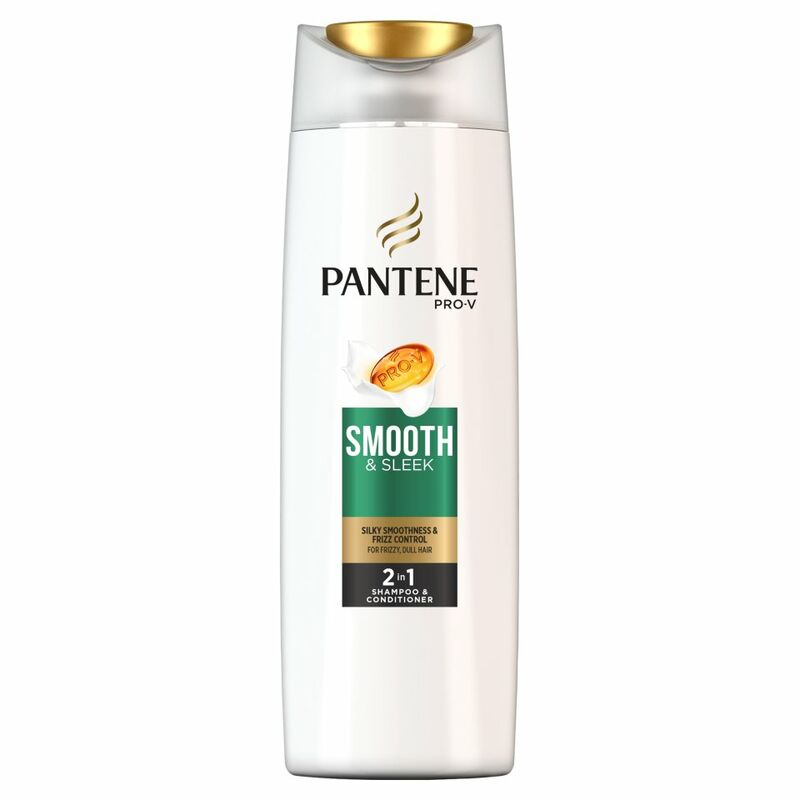 Pantene Pro-V Smooth & Sleek 2in1 Shampoo & Conditioner For Frizzy, Dull Hair 400ML