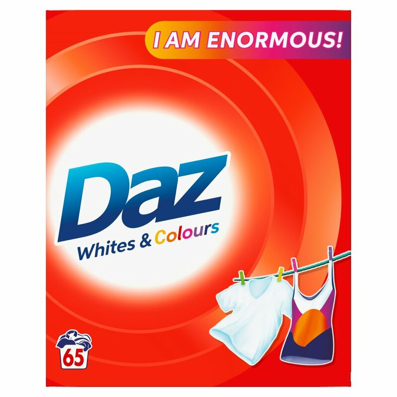 Daz Washing Powder For Whites & Colours Clothes 65 Washes