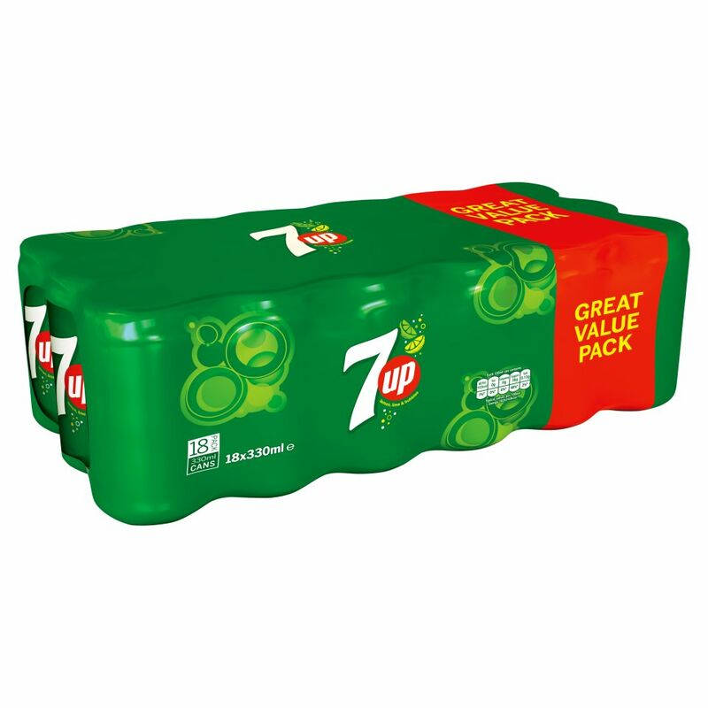 7UP Lemon, Lime and Bubbles 18 x 330ml