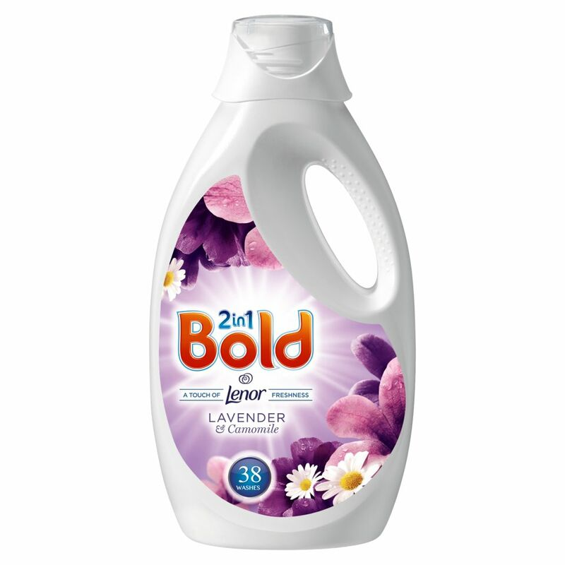 Bold 2in1 Washing Liquid Lavender & Camomile 1.9L 38 Washes