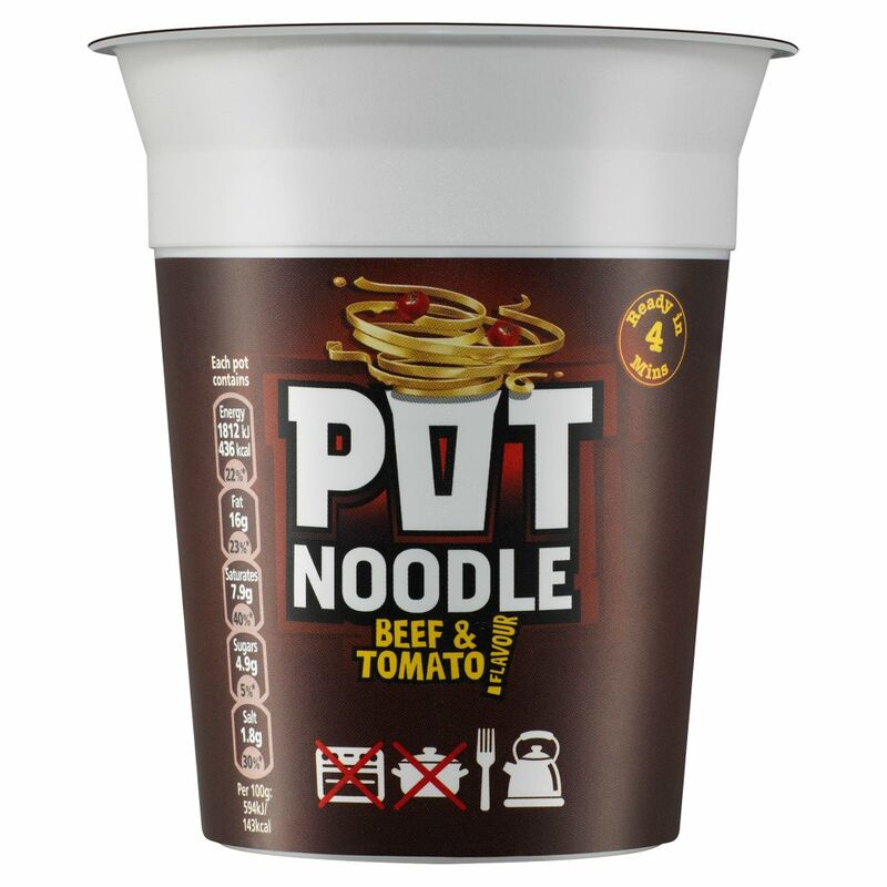 Pot Noodle Standard Beef & Tomato 90g