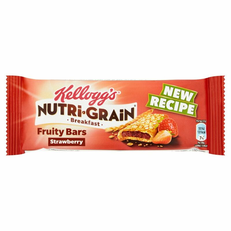 Kellogg's Nutri-Grain Fruity Breakfast Bar Strawberry Cereal Bar 37g