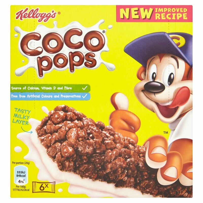 Kellogg's Coco Pops Cereal & Milk Snack Bars 6 x 20g (120g)