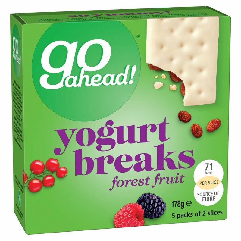 Go Ahead! Forest Fruit Yogurt Breaks 5 Packs of 2 Slices (178g)