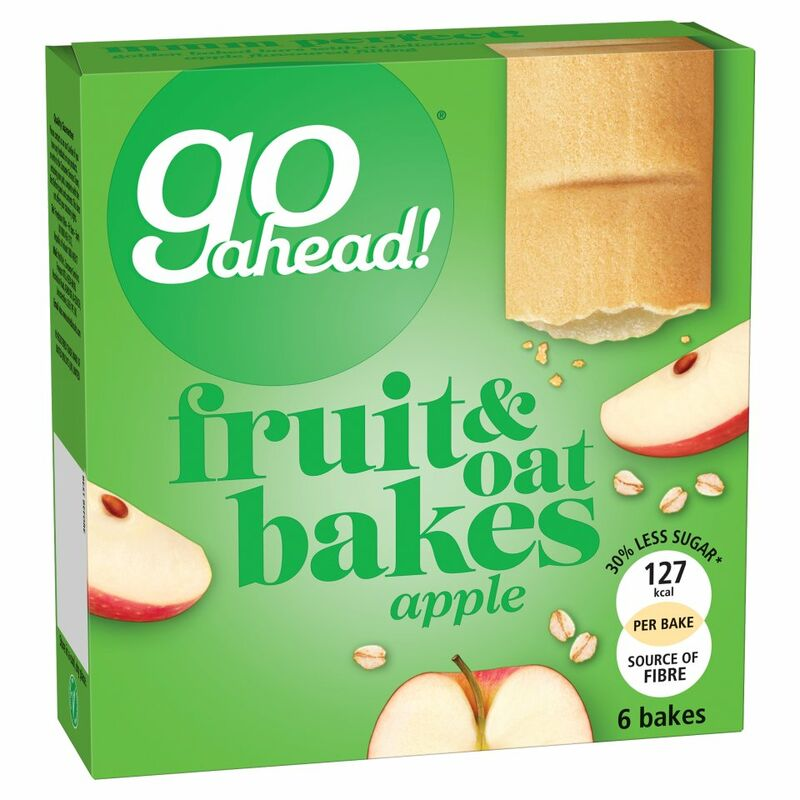 Go Ahead! 6 Apple Fruit & Oat Bakes 210g