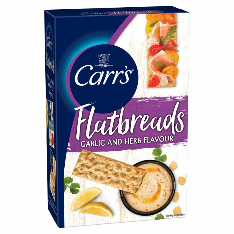 Carr's Flatbreads Garlic and Herb Flavour 150g