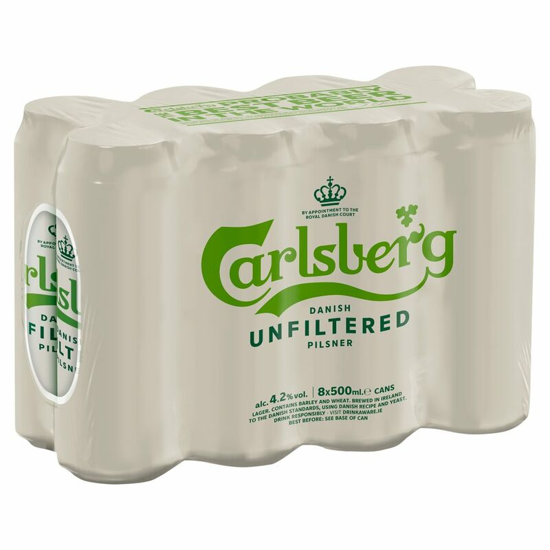 Carlsberg Unfiltered 8 x 500ml Can