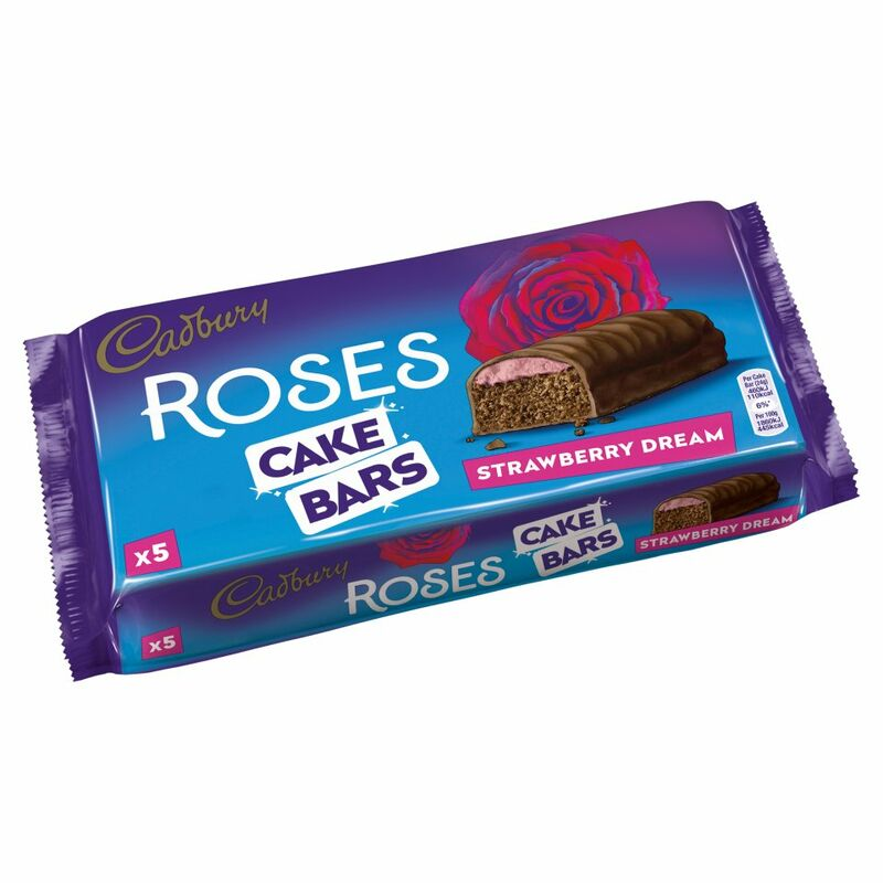 Cadbury 5 Roses Cake Bars Strawberry Dream