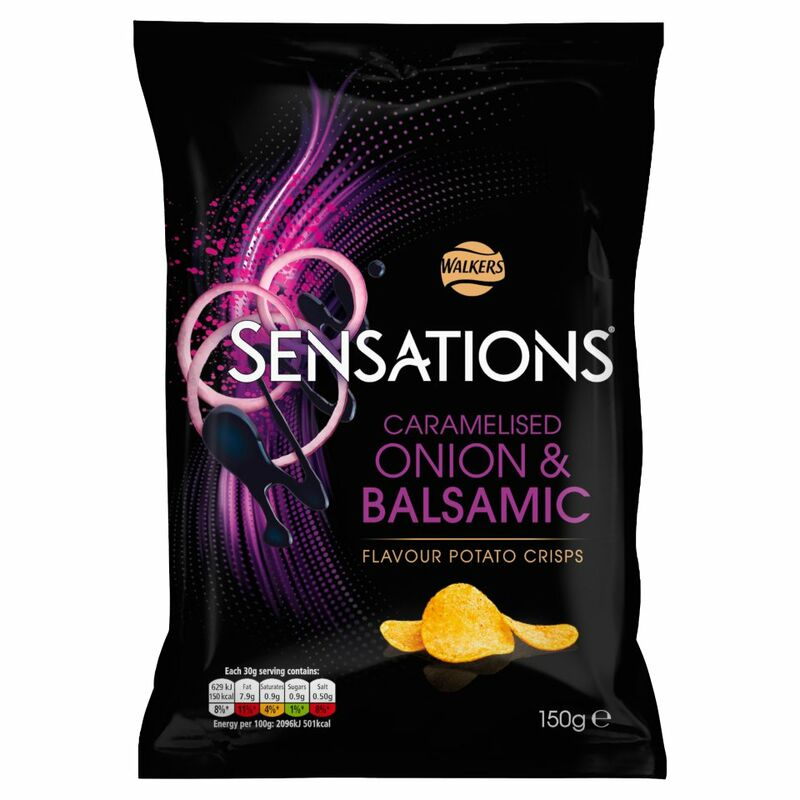 Walkers Sensations Onion & Balsamic Vinegar Crisps 150g