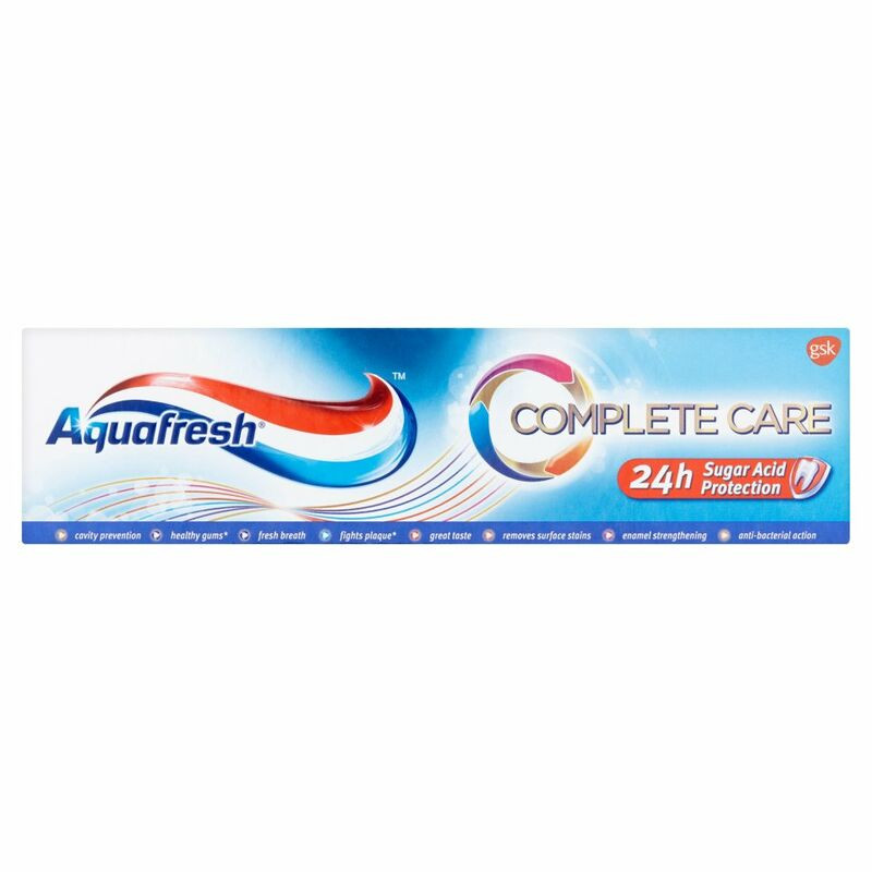 Aquafresh Complete Care Fluoride Toothpaste 75ml