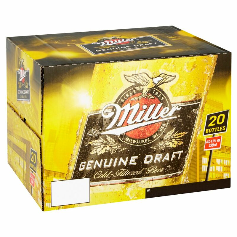 Miller Genuine Draft Cold-Filtered Beer 20 x 330ml