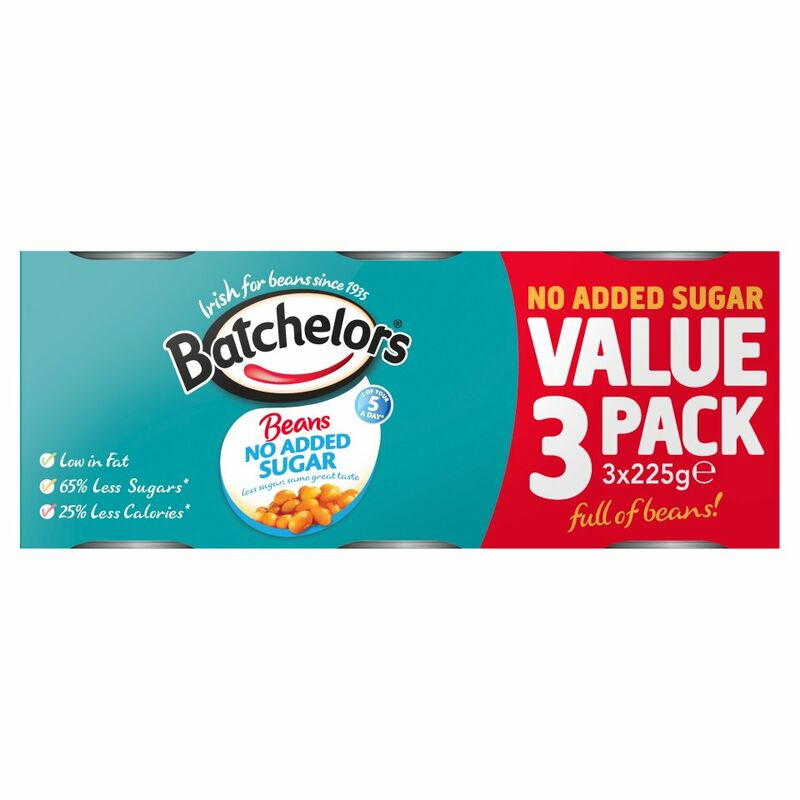 Batchelors Beans No Added Sugar 3 x 225g