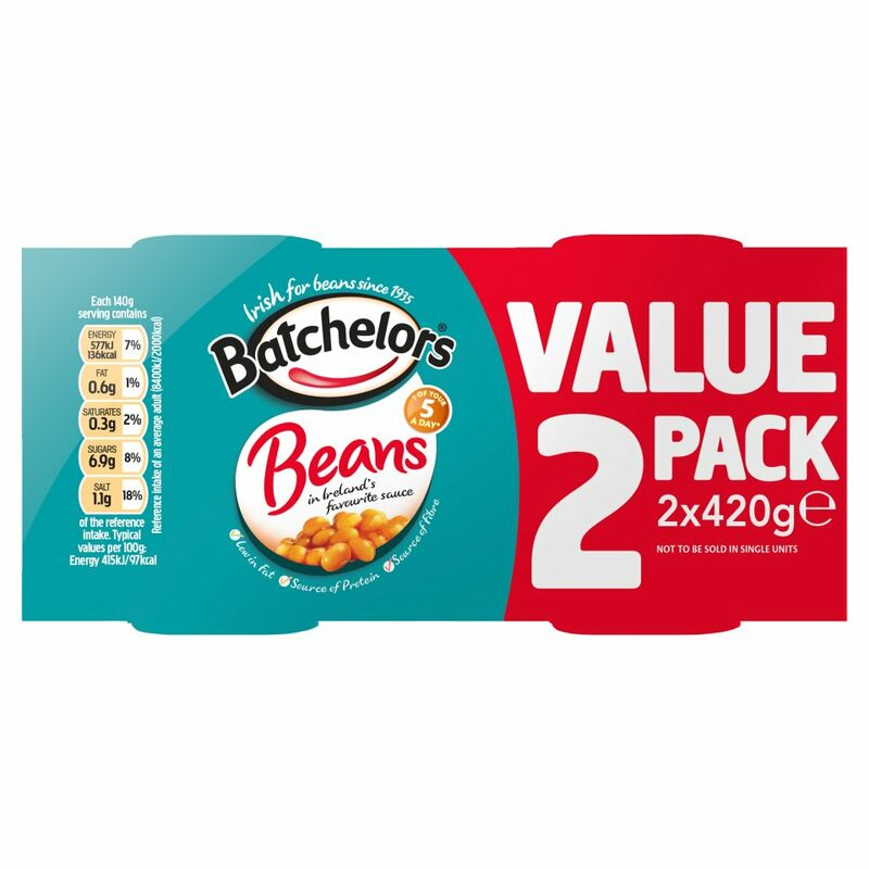 Batchelors Beans in Ireland's Favourite Sauce 2 x 420g