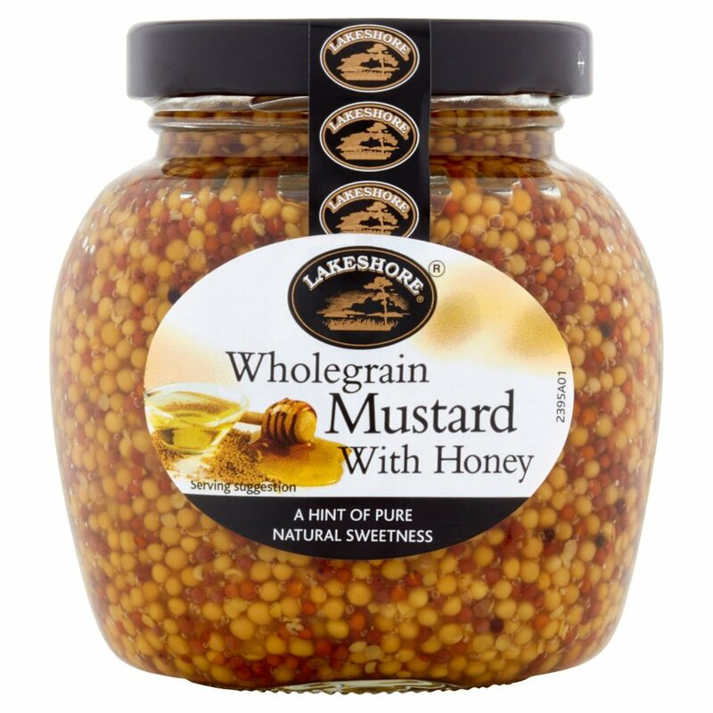 Lakeshore Wholegrain Mustard with Honey 205g