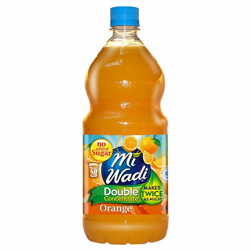 Mi Wadi No Added Sugar Double Concentrate Orange 1L