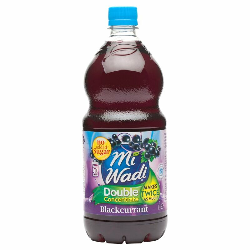 Mi Wadi No Added Sugar Double Concentrate Blackcurrant 1L