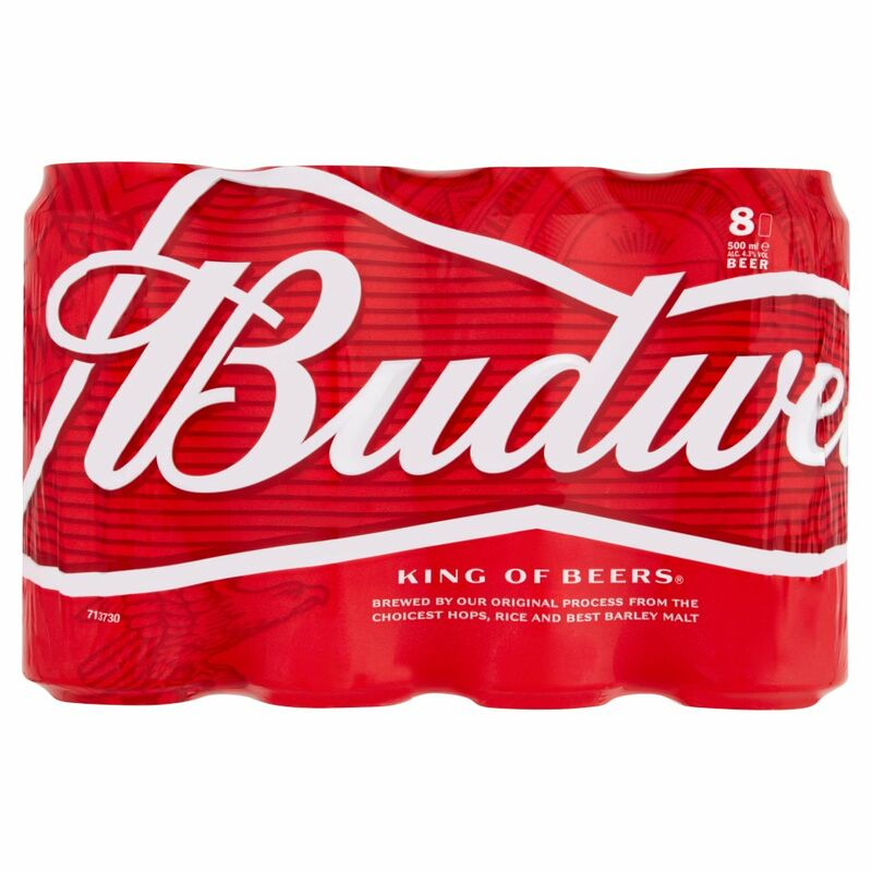 Budweiser Beer 8 x 500ml