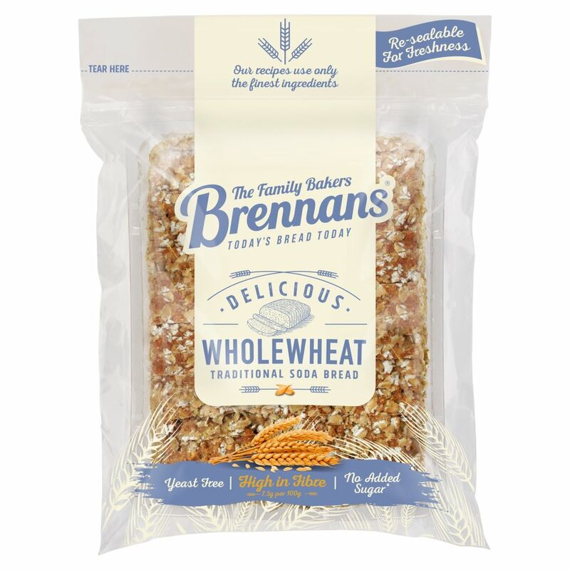 Brennans Double Fibre Wholewheat Bread 500g
