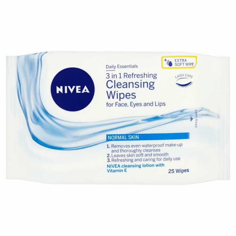 NIVEA® Daily Essentials 3 in 1 Refreshing Cleansing Wipes for Normal Skin 25 Wipes