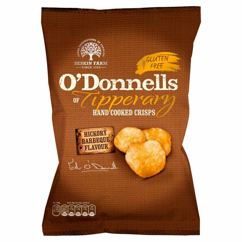 O'Donnells of Tipperary Hand Cooked Crisps Hickory Barbeque Flavour 125g