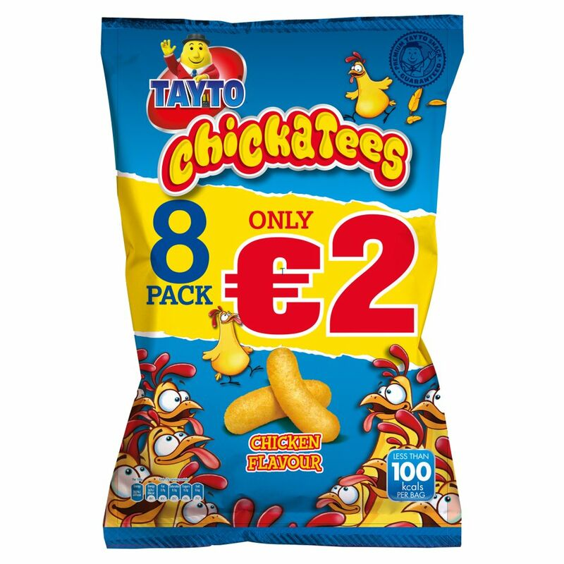 Tayto Chickatees Chicken Flavour 8 x 17g