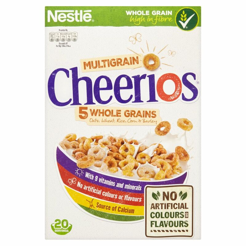 NESTLE CHEERIOS MULTIGRAIN Cereal 600g Box