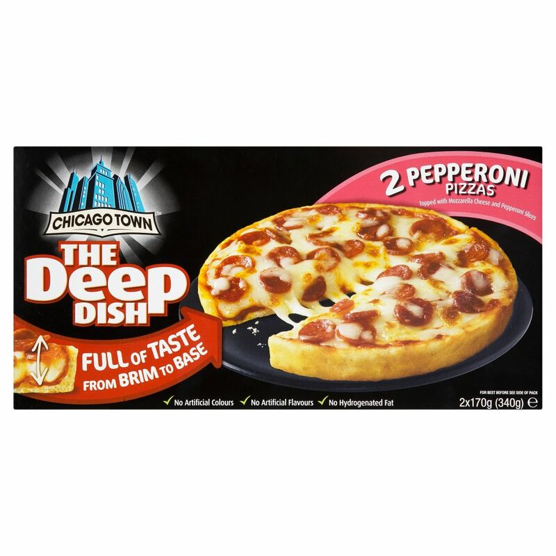 Chicago Town The Deep Dish 2 Pepperoni Pizzas 2 x 170g
