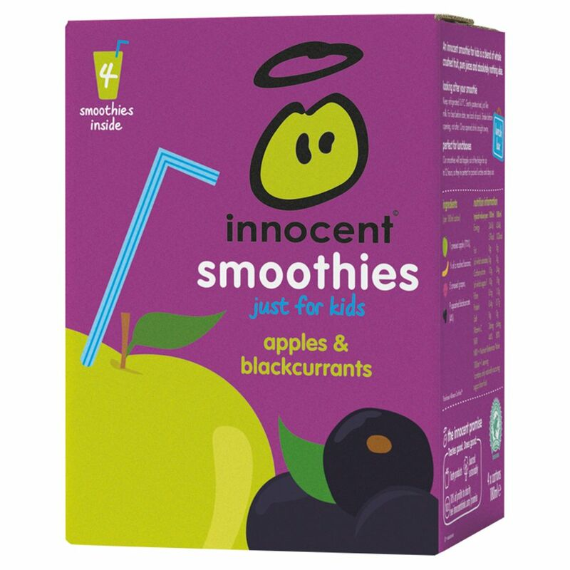 innocent kids smoothie apples & blackcurrants 4x180ml