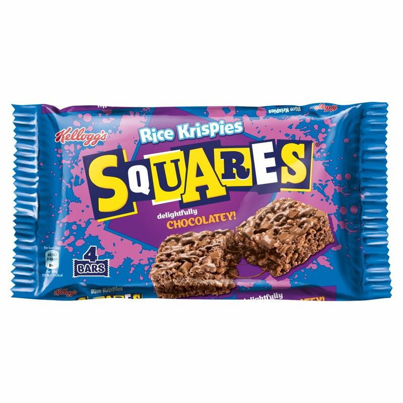 Kellogg's Rice Krispies Squares Chocolate Cereal Bars 4 x 36g
