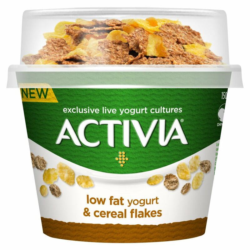 Activia Low Fat Yogurt & Cereal Flakes 165g