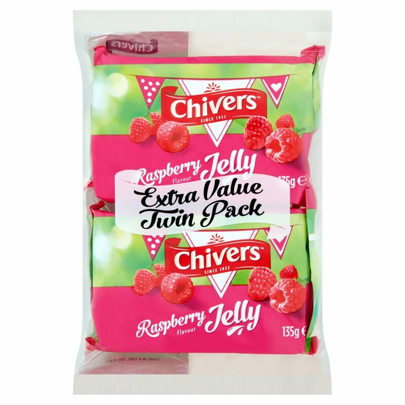 Chivers Raspberry Flavour Jelly 2 x 135g