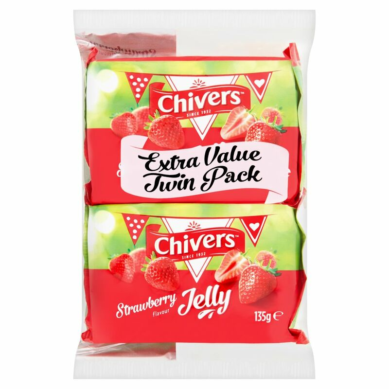 Chivers Strawberry Flavour Jelly 2 x 135g