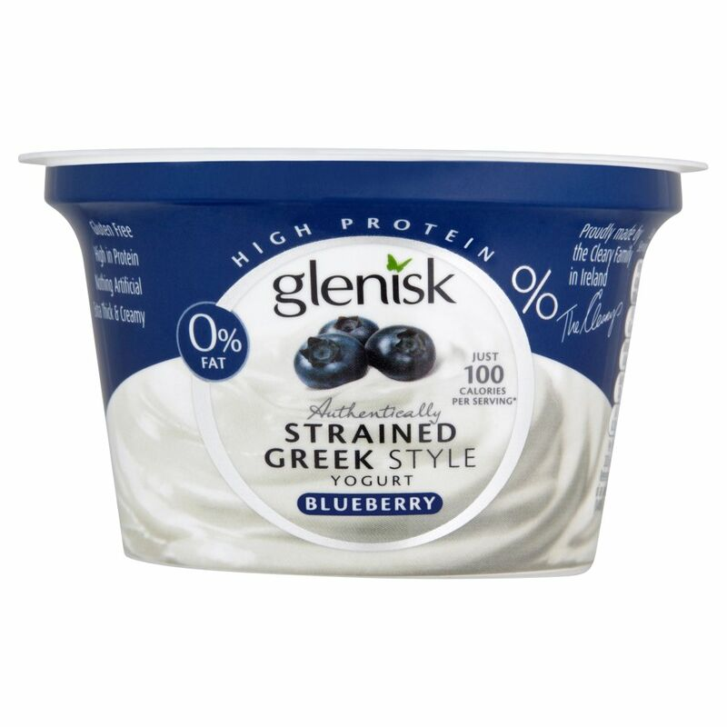 Glenisk Authentically Strained Greek Style Yogurt Blueberry 150g