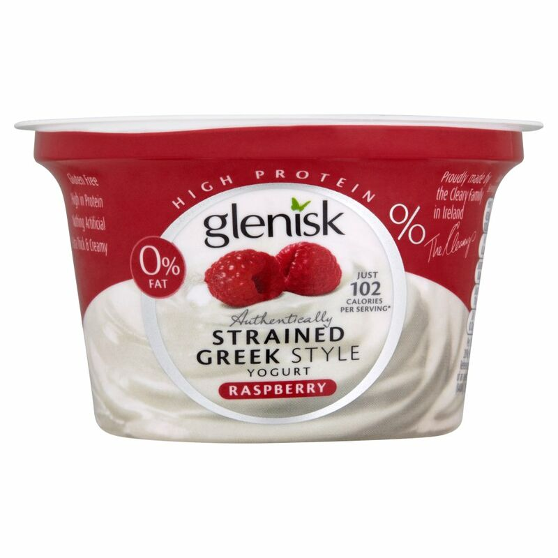 Glenisk Authentically Strained Greek Style Yogurt Raspberry 150g