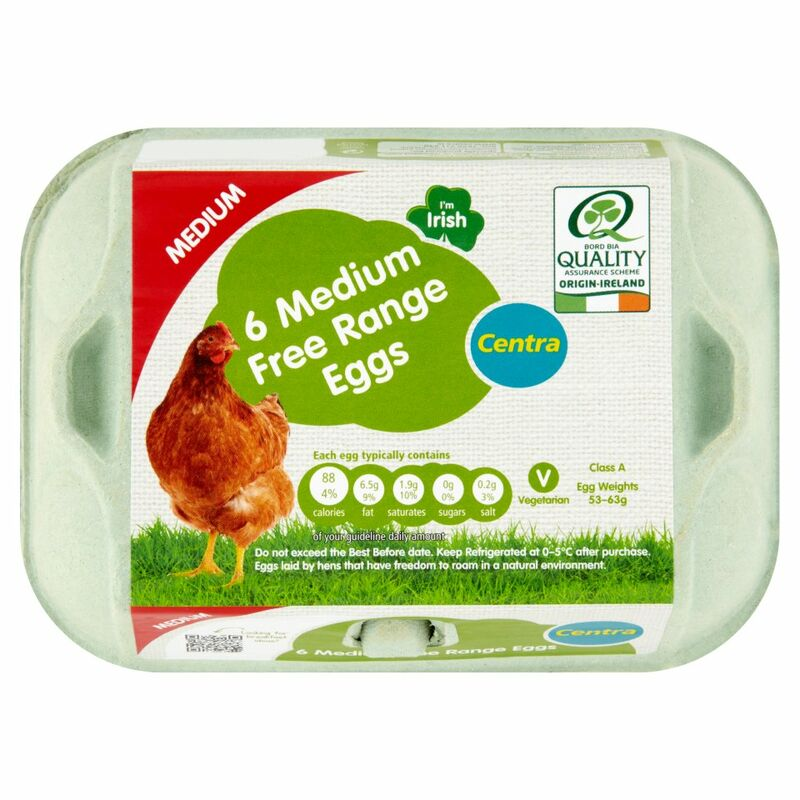 Centra 6 Medium Free Range Eggs