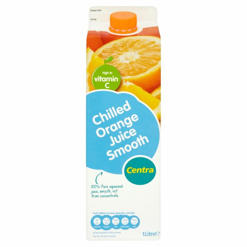 Centra Chilled Orange Juice Smooth 1 Litre
