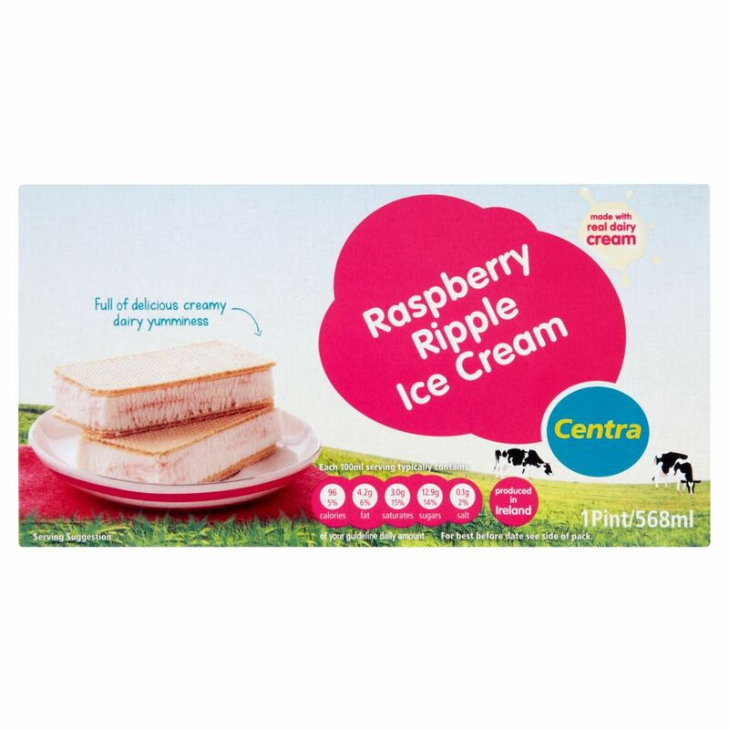 Centra Raspberry Ripple Ice Cream 568ml