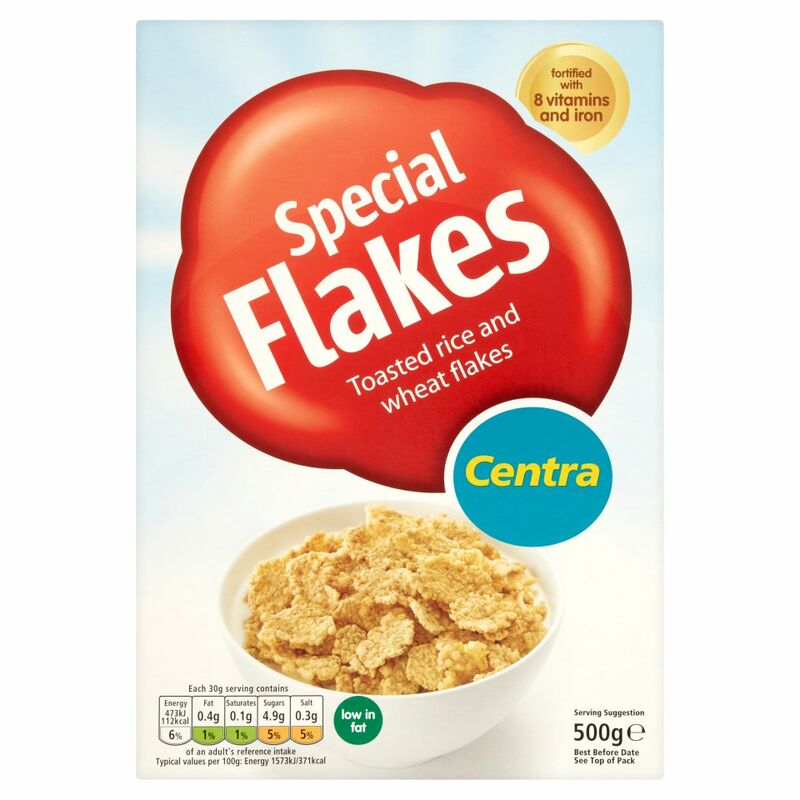 Centra Special Flakes Toasted Rice and Wheat Flakes 500g
