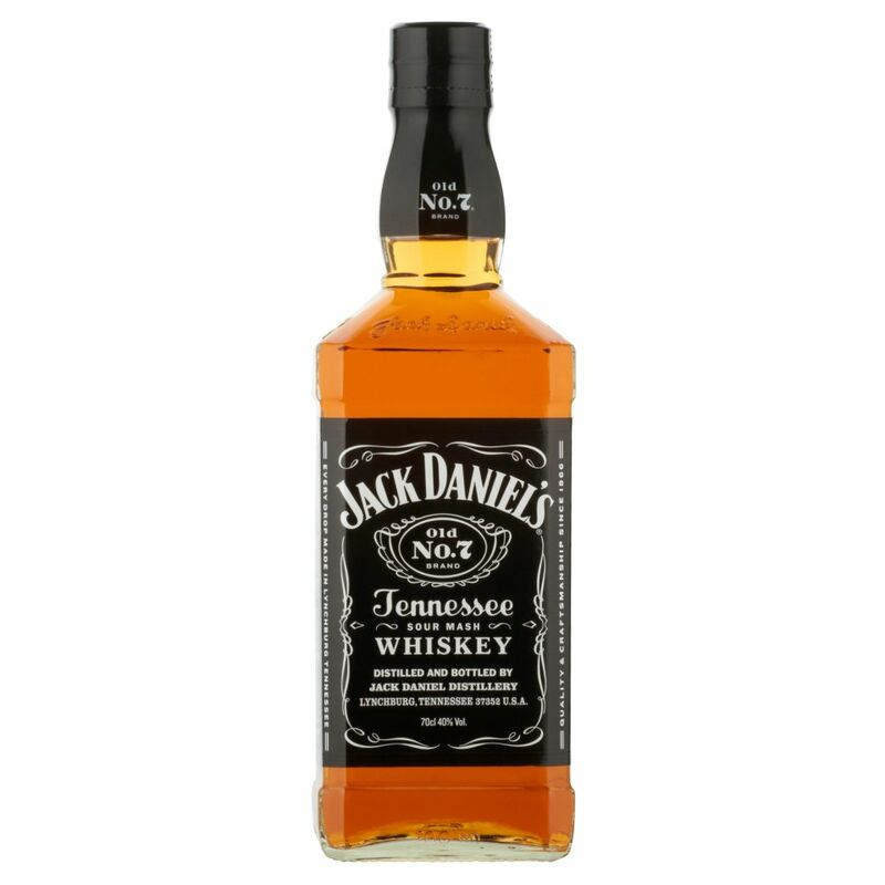 Jack Daniel's Old No.7 Brand Tennessee Sour Mash Whiskey 70cl