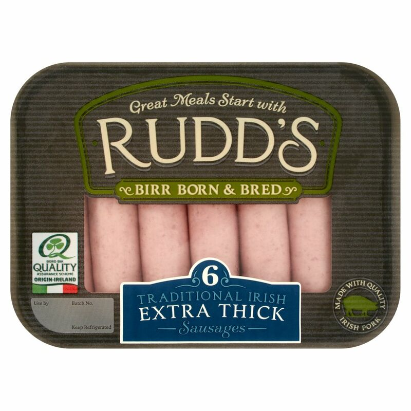 Rudd's 6 Traditional Irish Extra Thick Sausages 330g
