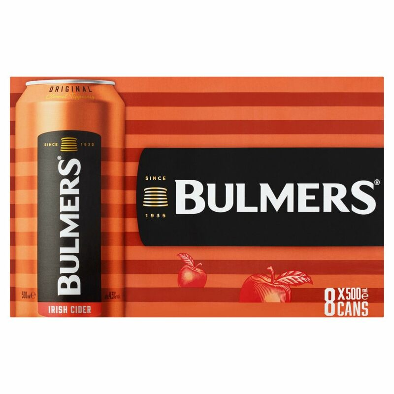 Bulmers Irish Cider Original 8 x 500ml